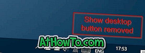 Cum să eliminați Afișați butonul Desktop din bara de activități în Windows 10