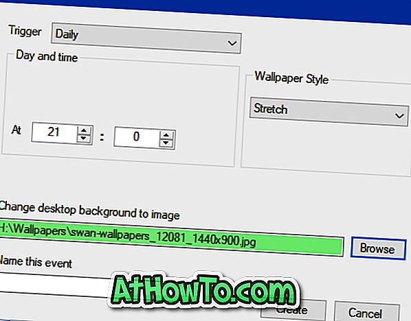 Endre bakgrunnsbilde basert på tidspunktet for dagen i Windows 10