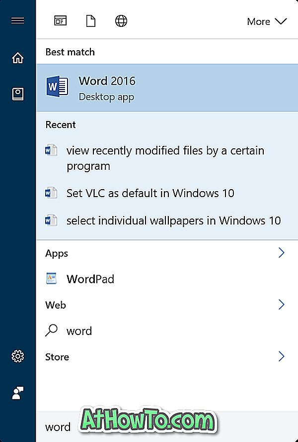 Se nyligt oprettede filer ved et bestemt program i Windows 10