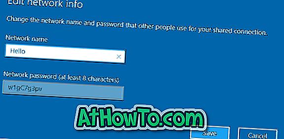 Ändern Sie den Namen und das Kennwort des mobilen Hotspots in Windows 10