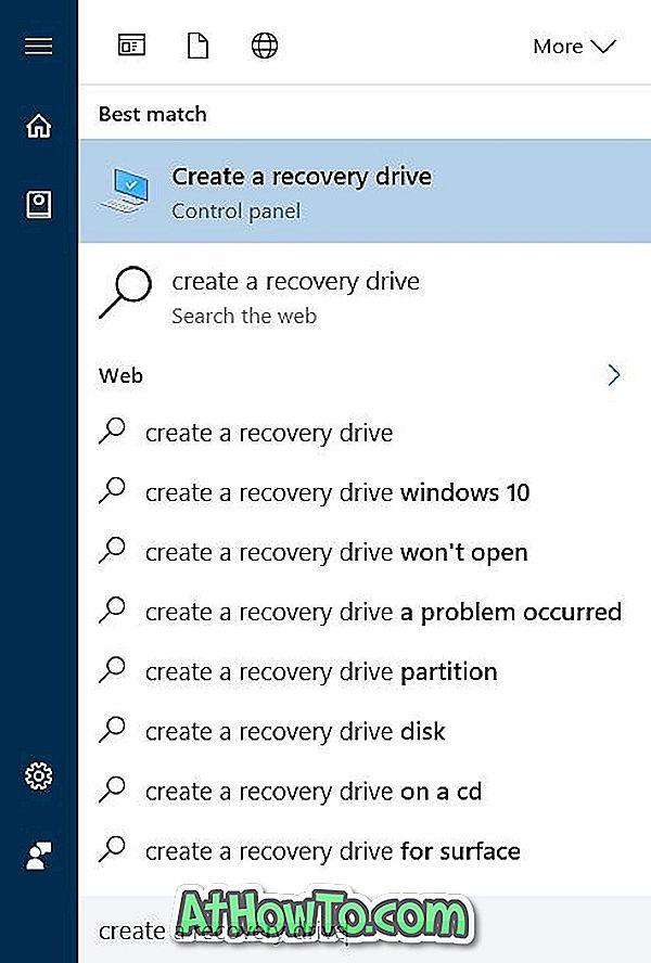 Kā dzēst atkopšanas nodalījumu sistēmā Windows 10