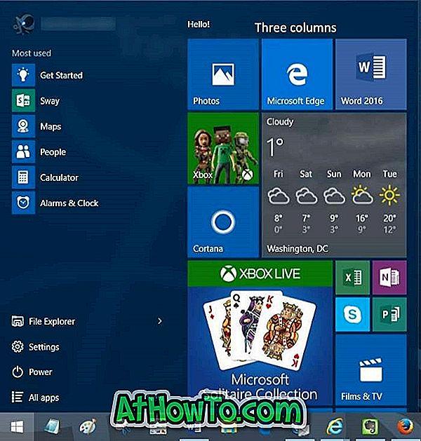 Windows 10'da Başlat Menüsüne Başka Bir Sütun Nasıl Eklenir