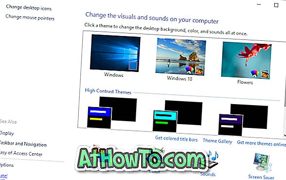 Kuidas saada tagasi klassikalise isikupärastamise aken Windows 10-s
