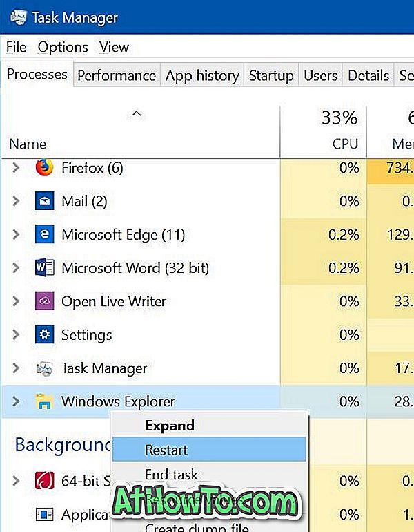 Solution: la barre des tâches ne fonctionne pas dans Windows 10
