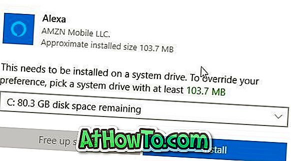 Windows 10のストアからアプリをインストールするとき、これはシステムドライブにインストールされる必要があります