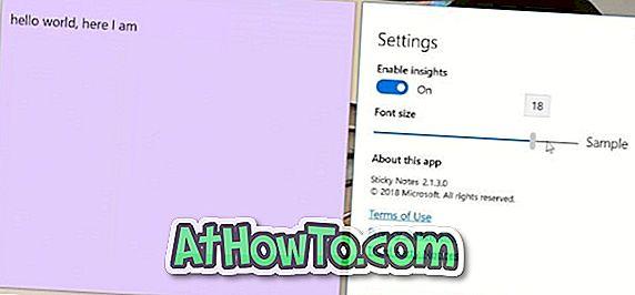 विंडोज 10 में स्टिकी नोट्स में फ़ॉन्ट आकार कैसे बदलें