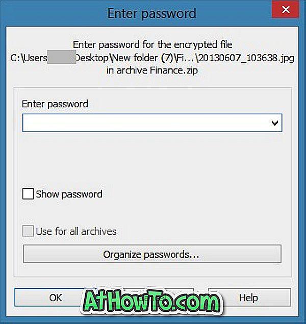 Cum se creează un fișier zip cu parolă în Windows 10/8/7