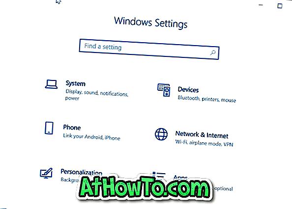 Sådan åbnes indstillinger i Windows 10