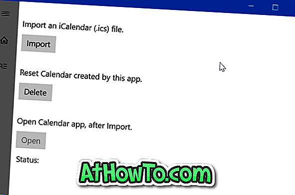 विंडोज 10 कैलेंडर में आईसीएस फ़ाइल आयात करने के लिए कैसे