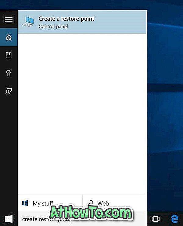 Як створити точку відновлення в Windows 10