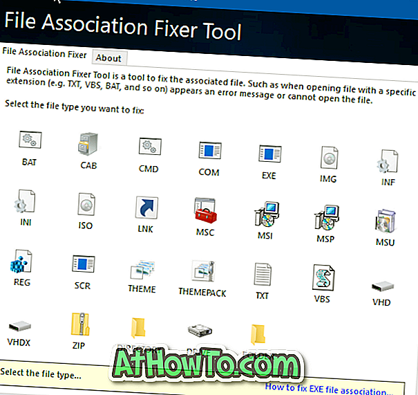 Download File Association Fixer Tool til Windows 10