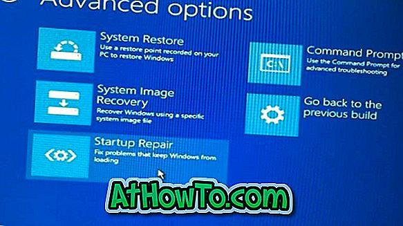 Unbootable Windows 10 PC'de Gelişmiş Başlangıç Seçeneklerini Aç