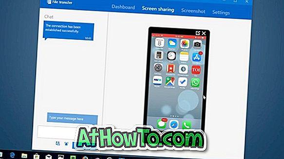 Spoguļa iPhone ekrāns Windows 10 datorā, izmantojot TeamViewer