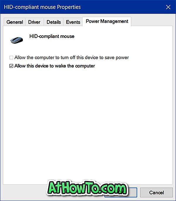 Wake PC de la somn Folosind tastatură și mouse în Windows 10