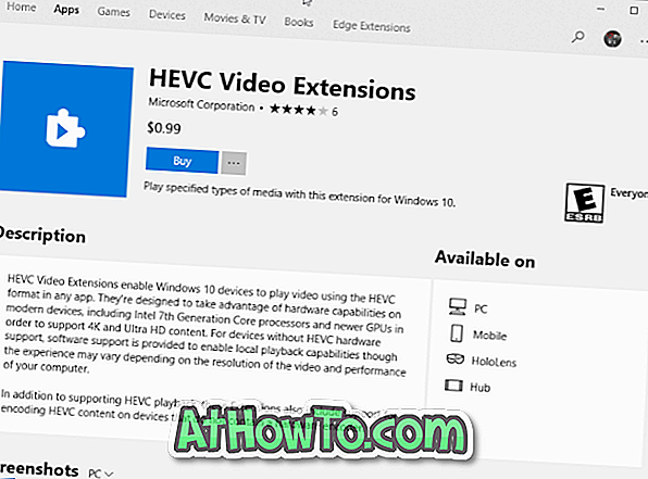 Microsoft oplader til HEIF & HEVC-medieudvidelser, der er tilgængelige i butik