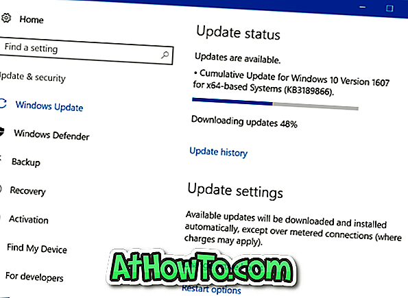 Sådan stopper du Windows Update Download i Windows 10