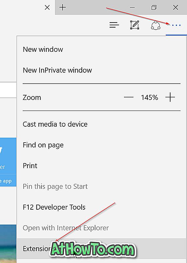 วิธีการติดตั้งส่วนขยายใน Edge Browser ใน Windows 10