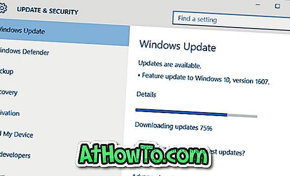 Fix: Windows 10 Anniversary Update (1607) Vis ikke op
