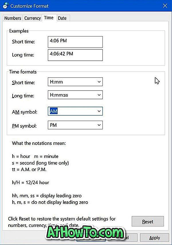विंडोज 10 में 24 घंटे का प्रारूप बदलने का समय
