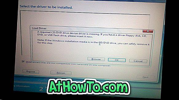 การแก้ไข: ไดรฟ์อุปกรณ์ CD / DVD ที่จำเป็นไม่มีข้อผิดพลาดขณะติดตั้ง Windows จาก USB