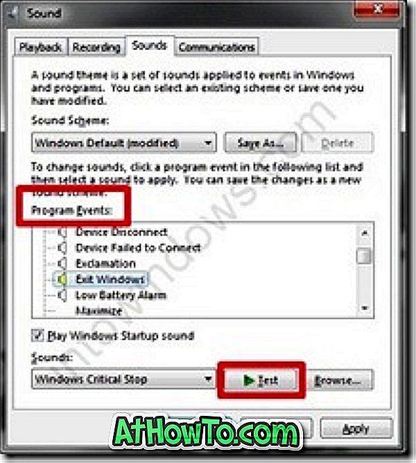 Hogyan: Módosítsa az alapértelmezett rendszerhangokat a Windows 7 rendszerben