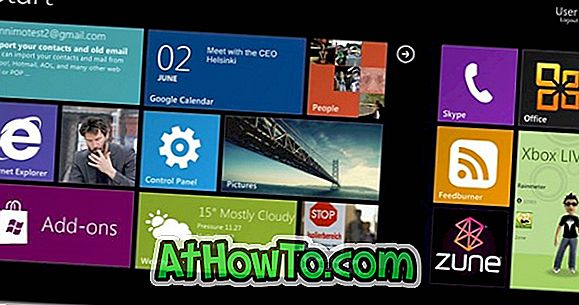 Ottieni la schermata di avvio di Windows 8 in Windows 7 con Omnimo Skin 4.0