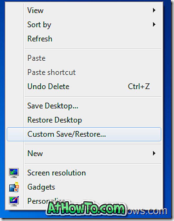 Salva e ripristina le posizioni e il layout delle icone del desktop dal menu contestuale