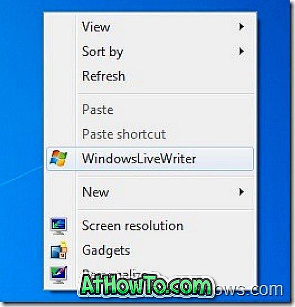 Cum se adaugă programe în meniul contextual al desktopului (meniul clic dreapta)