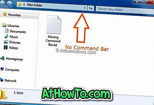 Как да се скрие или напълно премахване на Windows 7 Explorer командния бар (Toolbar)