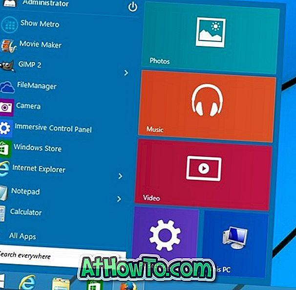 Windows 10 Start Menu til Windows 8.1 / 7