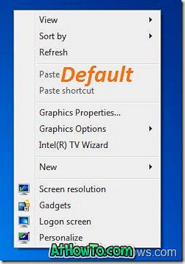 7 Kontextmenü Image Changer: Kontextmenü (Rechtsklick) -Menü-Hintergrund anpassen