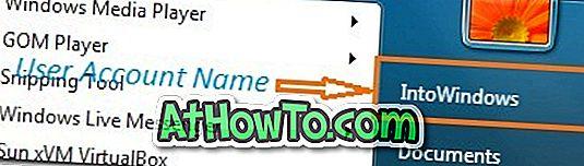 Sådan fjerner du brugerkonto navn fra startmenu i Windows 7