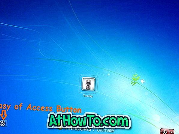 Sådan nemt deaktivere adgang til adgangsknappen i Windows 7 Logon Screen