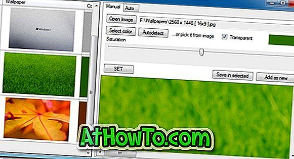 विंडोज 7 में हर डेस्कटॉप पृष्ठभूमि के लिए कस्टम विंडो रंग कैसे सेट करें