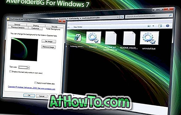 AveFolderBG добавя Промяна на папката фон опция за папката свойства в Windows 7 (трябва да има разширение за Windows 7) \ t