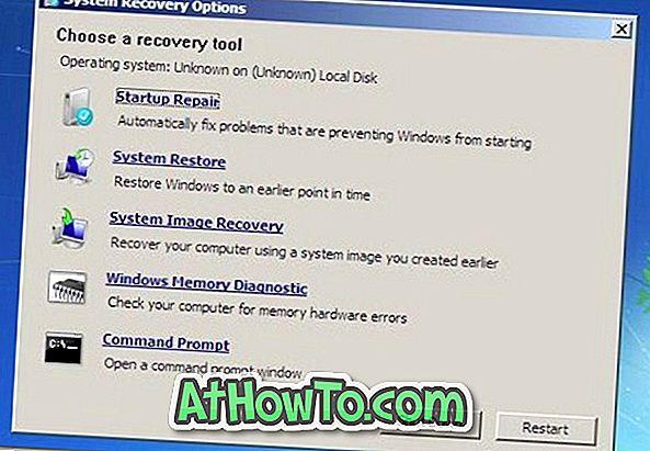 Comment réparer Windows 7 à partir d'une clé USB (réparation sans disque DVD d'installation)