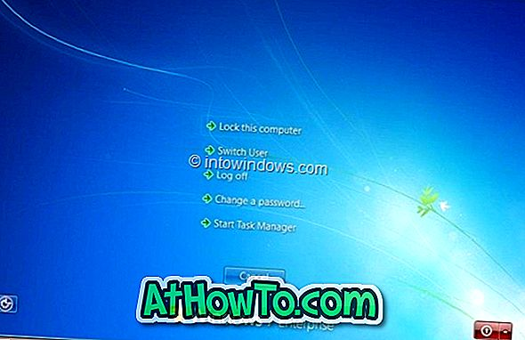 إضافة أو إزالة Ctrl + Alt + Del Screen Options