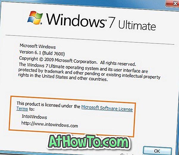 Как да промените името на регистрирания собственик и организация в Windows 7