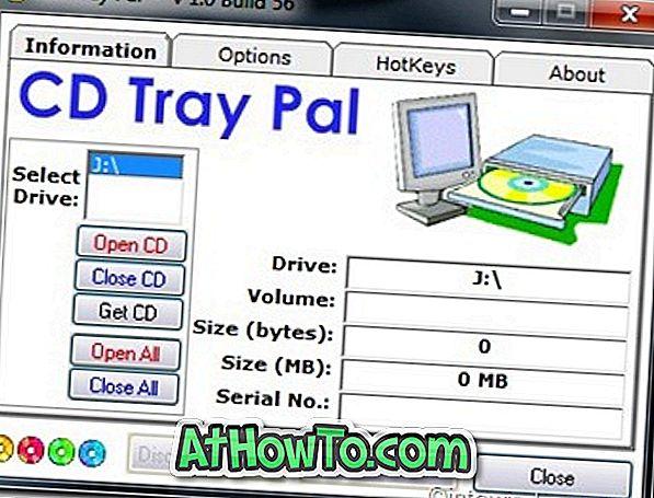 Cómo asignar teclas de acceso rápido para expulsar / insertar la bandeja de CD en Windows