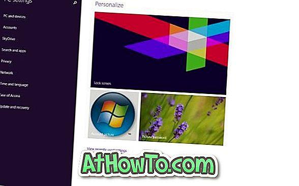Izveidojiet datora iestatījumu saīsni darbvirsmā Windows 8.1