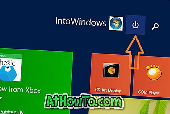Ako odstrániť tlačidlo vypnutia z obrazovky Štart V systéme Windows 8.1 Update