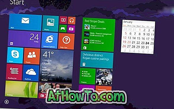 विंडोज 8 / 8.1 में स्क्रीन के निचले बाएं कोने में माउस कर्सर ले जाकर स्टार्ट स्क्रीन को एक्सेस करें