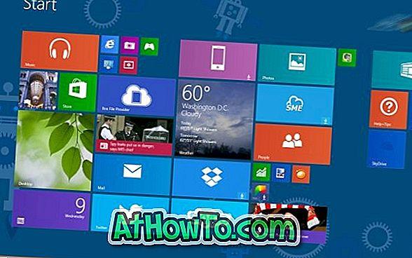 Come impostare automaticamente il colore di sfondo della schermata di avvio come il bordo della finestra e il colore della barra delle applicazioni in Windows 8.1