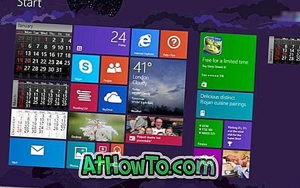 Live Calendar Tile App tilføjer live kalender til startskærm i Windows 8 / 8.1