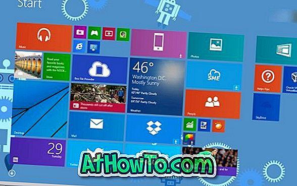 Windows 8.1'de Başlangıç Ekranı Arka Plan Rengini Otomatik Olarak Değiştir