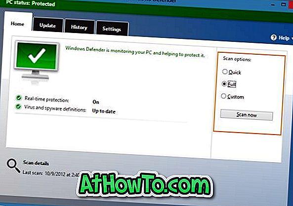 Verwendung von Windows Defender zum Scannen von Dateien und Laufwerken in Windows 8