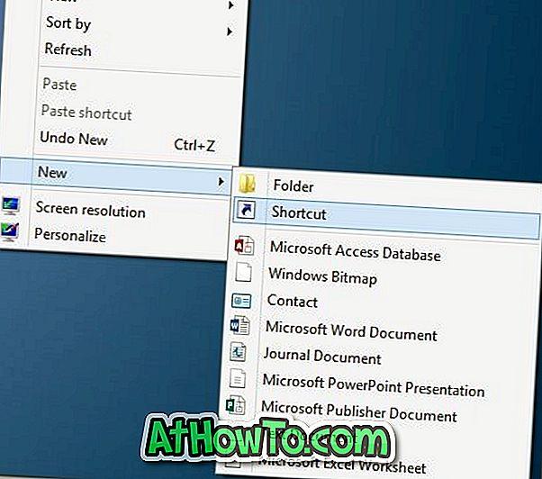 Kā izveidot visas programmas īsceļu uz darbvirsmas Windows 8