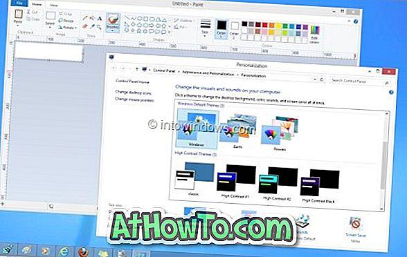 Kuidas saada valge akna piire Windows 8-s ilma tööriba värvi muutmata