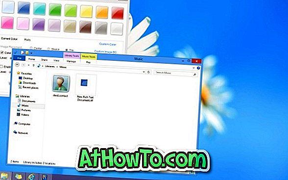 Sådan indstilles to forskellige farver til proceslinje og vinduesgrænser i Windows 8 (Brugerdefineret farve til både proceslinje og vinduesgrænser)