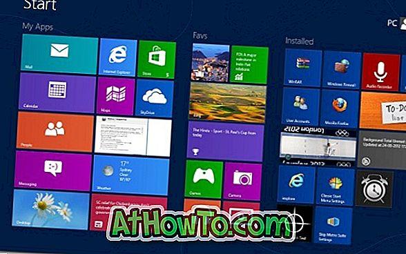 Kā nosaukt grupas sākuma ekrānā Windows 8